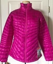 474ab147312 $199 NWT Womens The North Face Thermoball Down Full Zip Jacket Pink Blue  Swirl