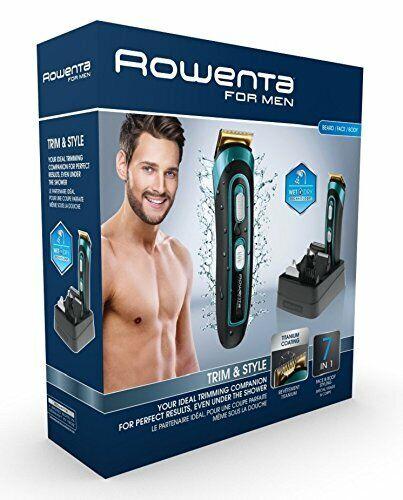 Rowenta Trim & Style TN9130 - Cortapelos para barba y cuerpo 7 en 1 - Wet & Dry