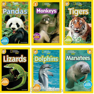 National Geographic Readers Level 2 Monkeys,Pandas,Dolphins,Manatees (Paperback)