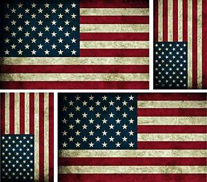 Details Zu 4 X Aufkleber Auto Sticker Amerika Motorrad Usa Fahne Flagge Vintage