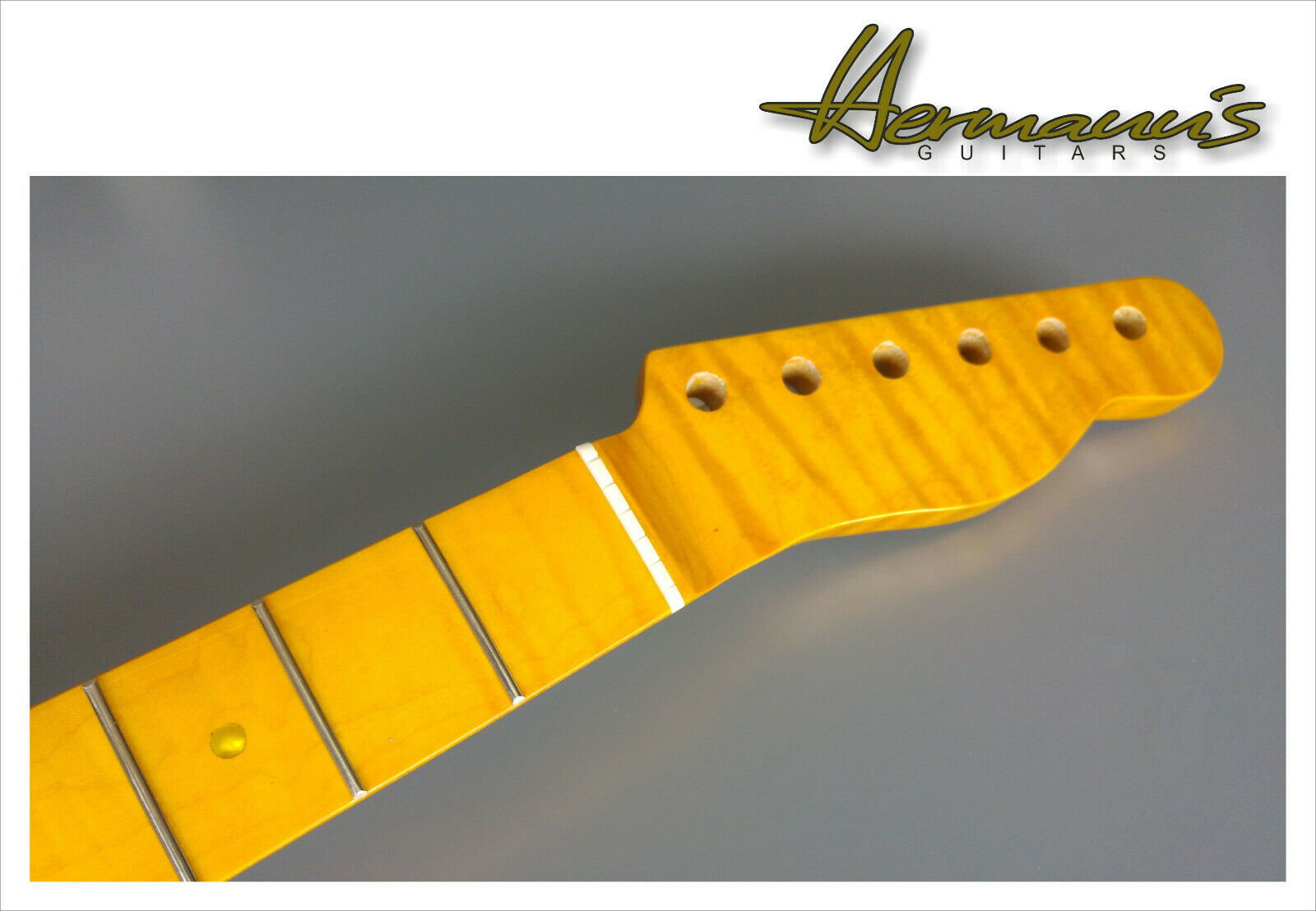 Telecaster Neck, HQ One Piece Canadian Flamed Maple 21 Frets, Vintage Trussrod+