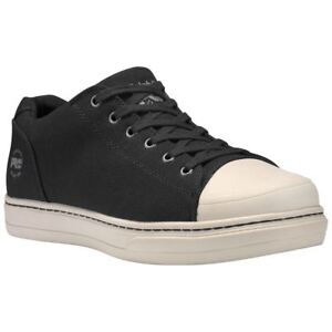 new list release date best deals on Details about Timberland Shoes Mens Disruptor Alloy Safety Toe Black/White  Canvas A1GV4
