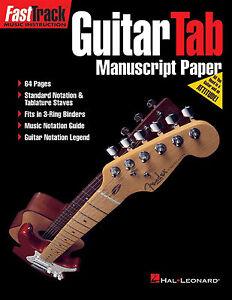 Guitar-TAB-amp-Standard-Notation-Manuscript-Paper-Sheet-Music-Book-Tablature-Notes
