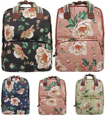 Shoppingstop Ladies Oilcloth Backpack Rucksack School College Shoulder Laptop Ba