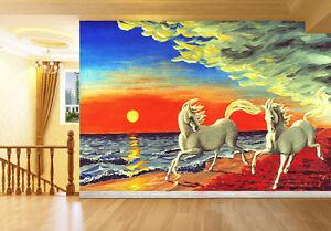 3d Soirée Cheval 31 Photo Papier Peint En Autocollant Murale Plafond Chambre Art