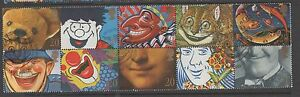 GB 1990 Greetings smiles SG1483-1492 fine used set of stamps as block of 10