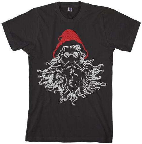 Threadrock Men/'s Groovy Santa Claus T-shirt Christmas Holiday
