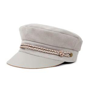 1ada7b289215d Women s BRIXTON Kayla Cream Suede Leather Moto Cap Size XS 6 3 4 ...
