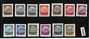 Full-set-Osten-overprints-on-paper-Hindenburg-Third-Reich-occupation-of-Poland