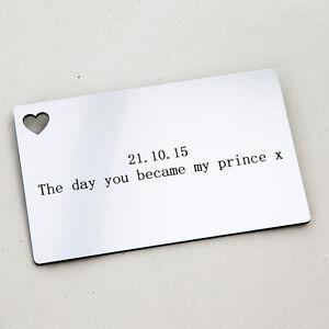 Wedding Gift Card Box With Lock Uk : ... Engraved Wallet Insert Wedding Favour Present Anniversary Gift eBay