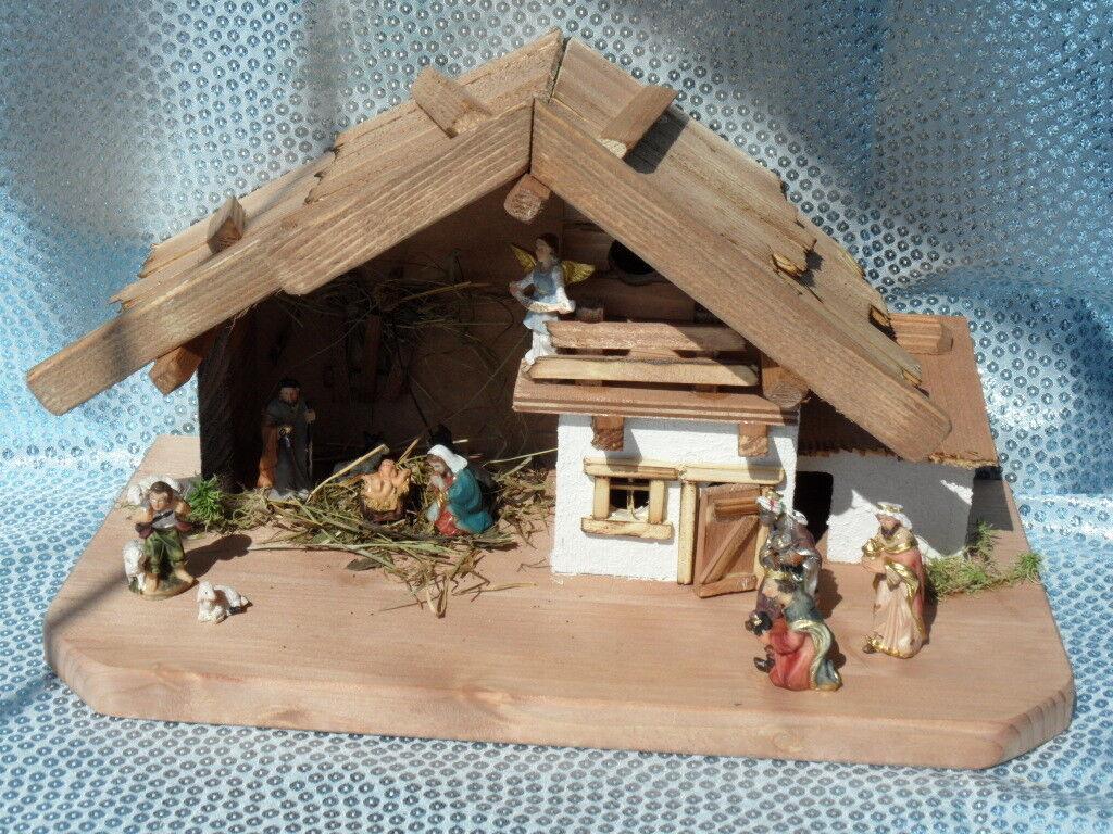 Krippenfiguren Weihnachtskrippe Schreinerarbeit Krippenstall Handarbeit Helene