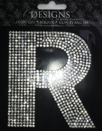 """Rhinestone Monogram 3.5"""" Letter Iron-Ons by Designs by Mark Richards"""