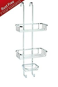 Image Is Loading CROYDEX OVER DOOR RACK HOOK 3 TIER SHOWER