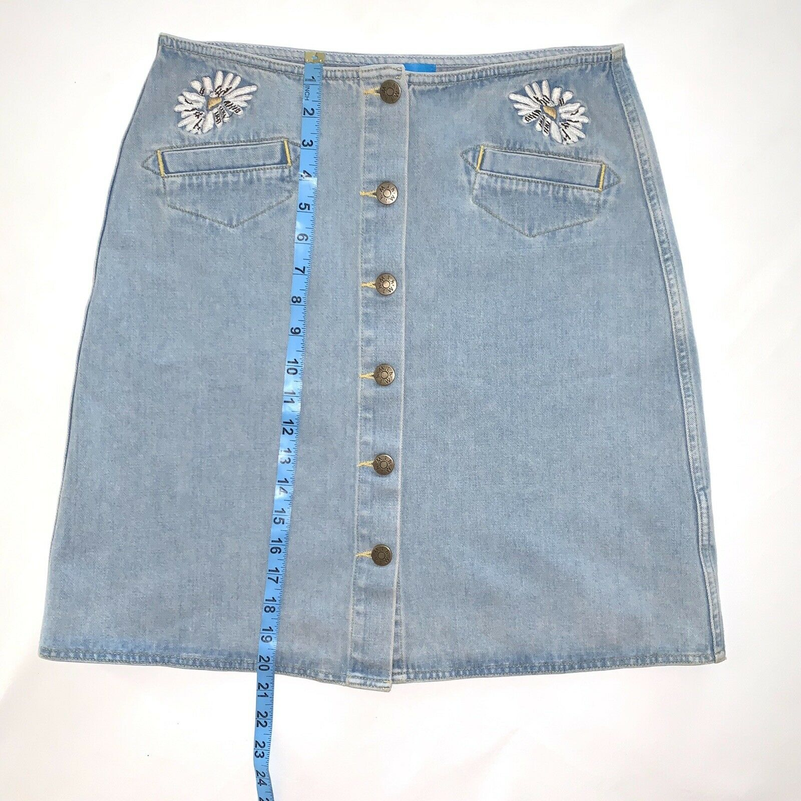 Anthropologie Skirt M.i.H Jeans Button Front A Li… - image 8