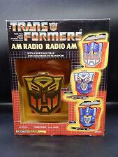 MIB vintage Transformers AM Radio toy OPTIMUS PRIME sealed G1 unopened NASTA rad