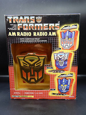 MIB vintage Transformers AM Radio toy OPTIMUS PRIME sealed G1 unopened NASTA rad
