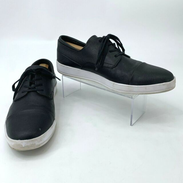 black leather sneaker shoes