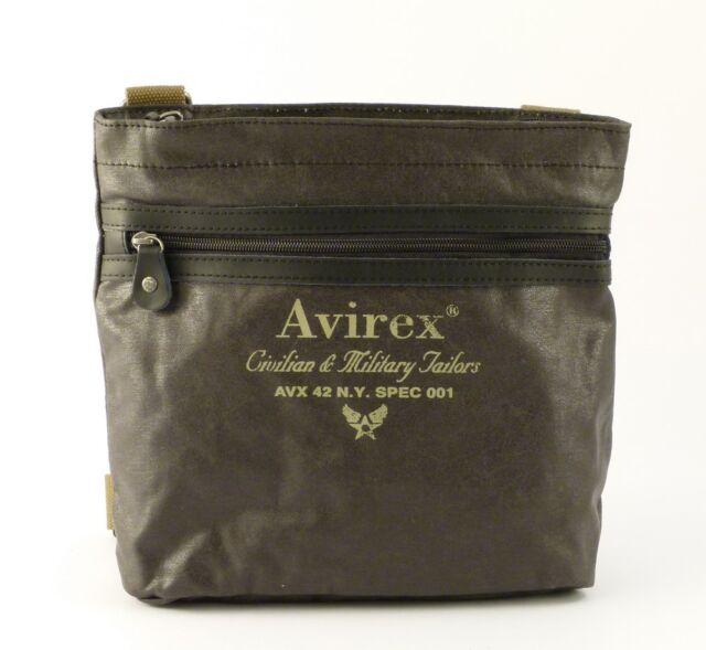 Borsa a Tracolla 1 Scomparto Verde Militare Avirex Alifax Accessorio ... 9c4f476556e