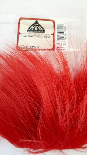 "Streamers FLY TYING WAPSI  FINN RACCOON /"" RED /"" Nice Long Hair Salmon"