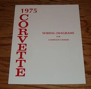 1975 Chevrolet Corvette Wiring Diagram Manual for Complete ...