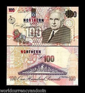 NORTHERN IRELAND 100 POUNDS P201 1999 BALLOON BAKER UNC IRISH MONEY BANK NOTE