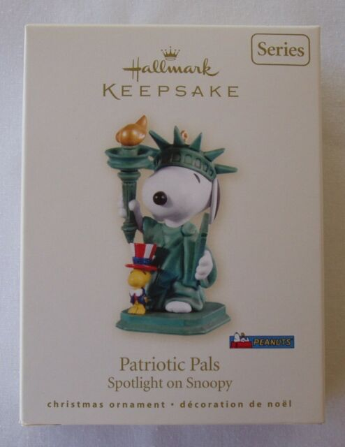 Hallmark 2008 Patriotic Pals Spotlight On Snoopy #11 Series Christmas Ornament