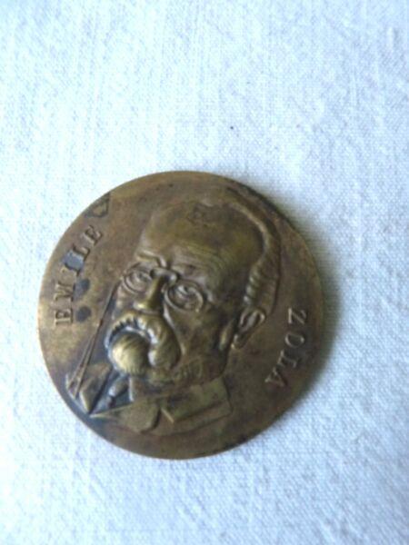 2019 Nouveau Style Médaille En Bronze Emile Zola