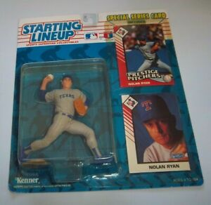 Nolan Ryan Texas Rangers 1993 with Special Card   Kenner Starting Line UP