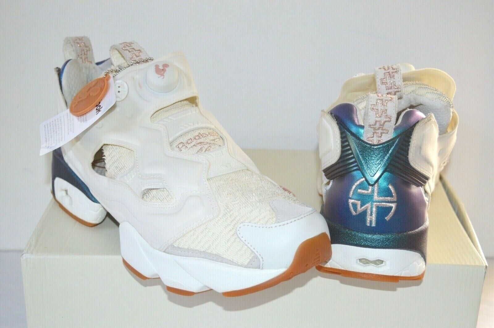 New  Reebok Instapump Pump Fury CNY17 Chalk White pink Year of the Rooster