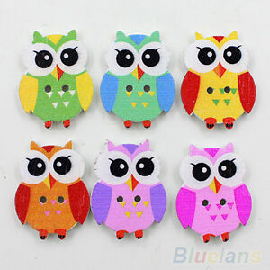 NE-KM-50pcs-Lovely-Cartoon-Animal-Wood-Buttons-2-Holes-DIY-Knopf-Bouton-For-Ki