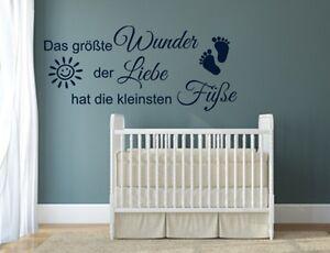 Details zu Wandtattoo Das größte Wunder der Liebe * Füße * Kinderzimmer  Sprüche Aufkleber