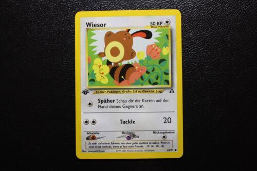 Pokemon 1 Edition Neo Entdeckung Wiesor 63//75 Karte 1te deutsch MINT