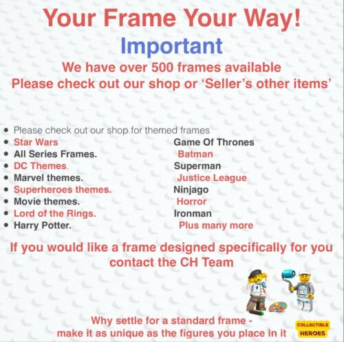 Lego Minifigure Display Case Frame Batman Movie series 1 /& 2 mini figures