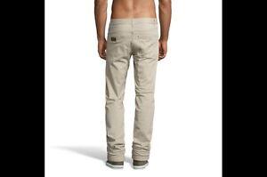 Lois-Jeans-para-Hombre-Beige-Lona-40-Cintura-34-pierna-de-Calidad-Nuevo-80s-Casuals-anverso-Greco
