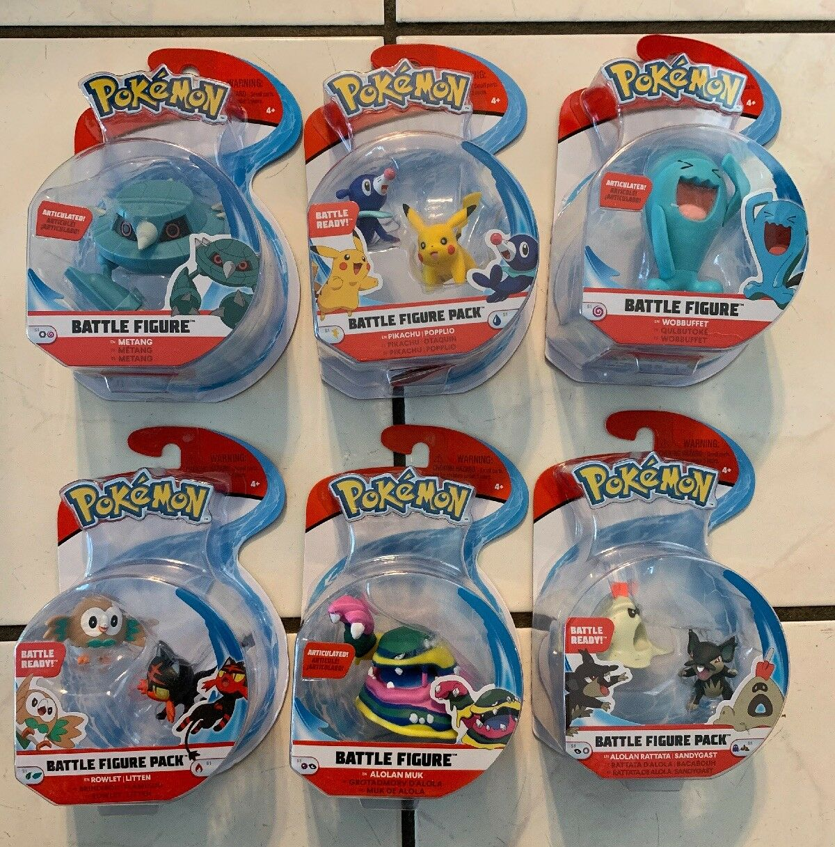 6 Pokemon Battle Figure Articulated Authentic 2018 Action Figure Lot NEW
