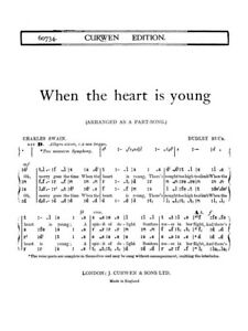 Dudley Buck When The Heart Is Young SATB Tonic Sol-fa Vocal Voice MUSIC BOOK