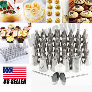 icing piping nozzles pastry tips cake sugarcraft decorating tool set