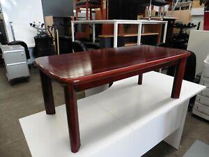 OFFICE-1200MM-MAHOGANY-COLOURED-COFFEE-TABLE-BRISBANE
