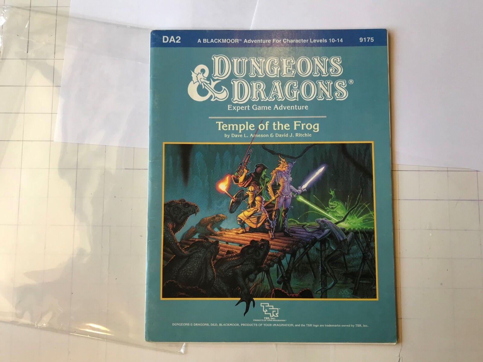 DA2 Temple Of The Frog Calabozos y Dragones Dave Arneson negromoor D&d Módulo