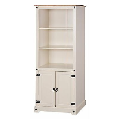 Corona Cream 2 Door Bookcase Painted by Mercers Furniture®