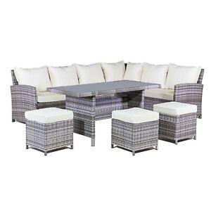 Sensational Details Zu Rattan L Shaped Dining Table Sofa Set Long Left Handed 8 Seater Garden Patio Frankydiablos Diy Chair Ideas Frankydiabloscom