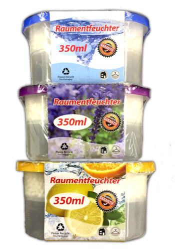 3er Set Raumentfeuchter mit Duft GranulatLuftentfeuchter Lufttrockner Box Deo