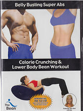 BELLY BUSTING SUPER ABS CALORIE CRUNCHING AND LOWER BODY BEAN WORKOUT (DVD) NEW