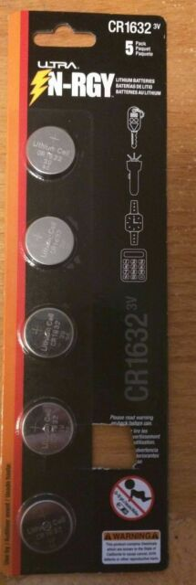 ULTRA N-RGY 3V Button Cell Battery - 5 Pack, Lithium, CR1632 - U12-42475