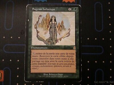 Holistic Wisdom Odyssey HEAVILY PLD Green Rare MAGIC THE GATHERING CARD ABUGames