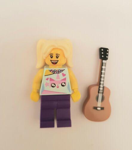 Lego City Cute Girl Minifigure Unikitty Torso with Guitar Accessory New Custom