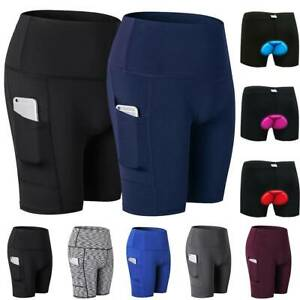 Uk Mens Womens Cycling Shorts Pant Sports Underwear Bicycle Riding Sport Bottom