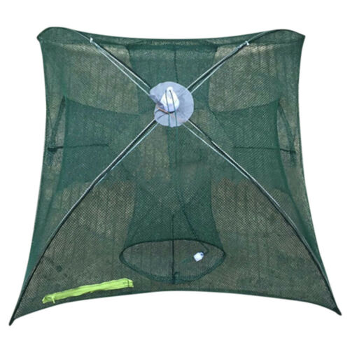 6-20Hole Automatic Fishing Net Shrimp Cage Nylon Foldable Crab Trap Cast Network