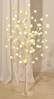 LED Baum Lichterbaum Rosen Rosenbaum Lichterbäumchen Bäumchen Blüten weiß Deko