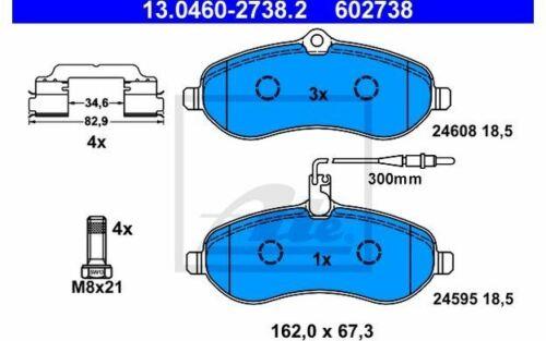4x ATE Bremsbeläge vorne für FIAT SCUDO CITROEN JUMPY 13.0460-2738.2